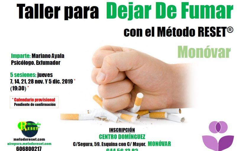 Monóvar: Taller para Dejar de Fumar