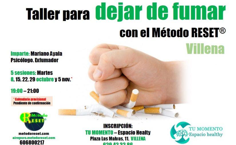 Villena: Taller para dejar de fumar