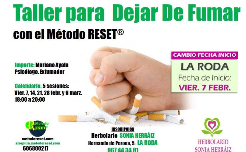 Taller para dejar de fumar (La Roda)